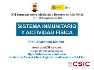 SISTEMA INMUNITARIO Y ACTIVIDAD F SICA