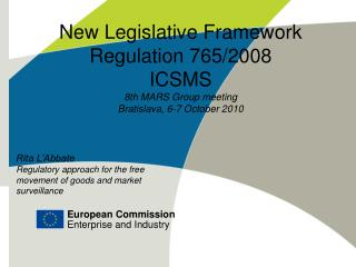 New Legislative Framework Regulation 765