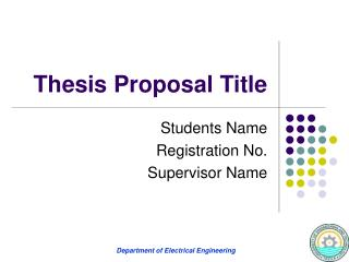 Thesis Proposal Title