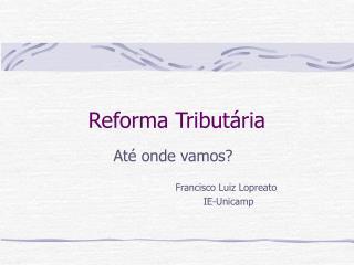 Reforma Tribut ria