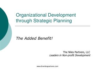 Organizational Development through Strategic Planning