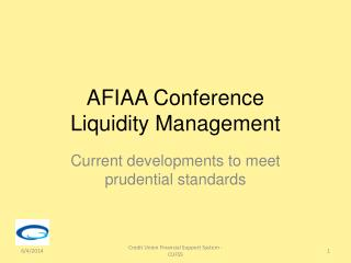 AFIAA Conference Liquidity Management