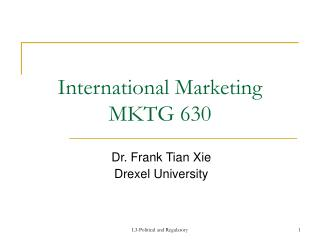 International Marketing MKTG 630