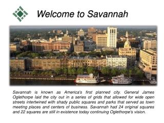 Welcome to Savannah