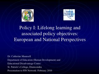 Policy I: Lifelong learning and associated policy objectives:  European and National Perspectives