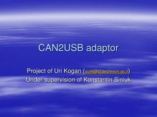 CAN2USB adaptor
