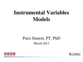 Instrumental Variables Models