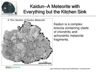 Kaidun--A Meteorite with Everything but the Kitchen Sink