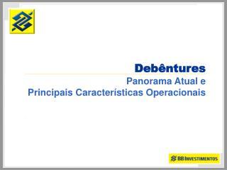 Deb ntures Panorama Atual e Principais Caracter sticas Operacionais