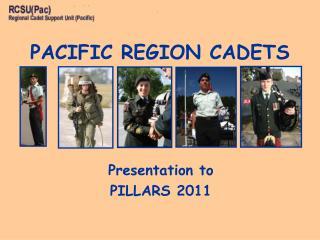 Presentation to  PILLARS 2011
