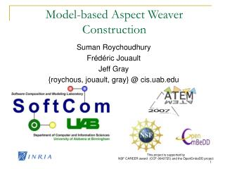 Model-based Aspect Weaver Construction