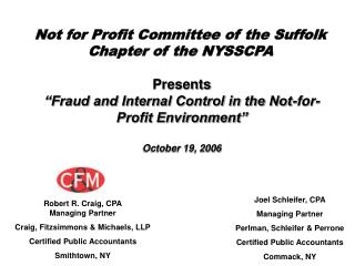 Not for Profit Committee of the Suffolk Chapter of the NYSSCPA
