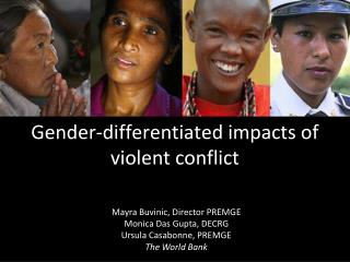 Gender-differentiated impacts of violent conflict