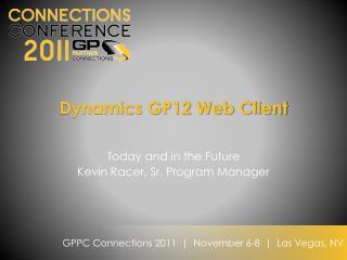 Dynamics GP12 Web Client