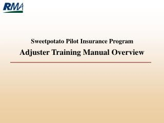 Objective of this Training Manual Certification Process Special Instructions Distribution
