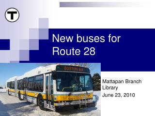 New buses for Route 28