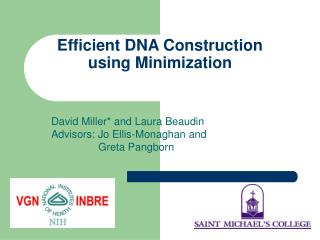 Efficient DNA Construction using Minimization