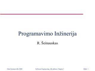 Programavimo In inerija