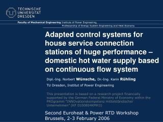 Adapted control systems for house service connection stations of huge performance   domestic hot water supply based on c
