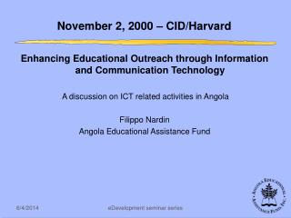 November 2, 2000   CID