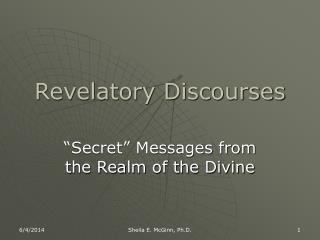 Revelatory Discourses