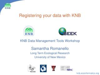 registering your data with knb