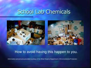 School Lab Chemicals