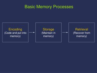 Storage Maintain in memory