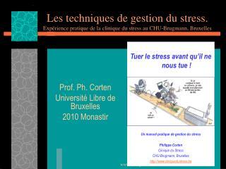 Les techniques de gestion du stress. Exp rience pratique de la clinique du stress au CHU-Brugmann, Bruxelles