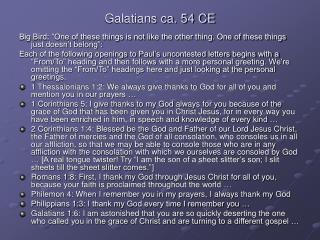 Galatians ca. 54 CE