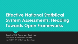 The Assessment Framework    Data and Analysis