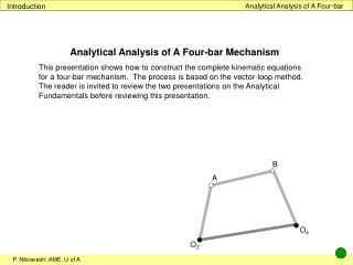 Analytical Analysis of A Four-bar
