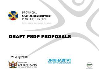 DRAFT PSDP PROPOSALS