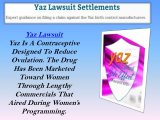 Yaz Lawsuit