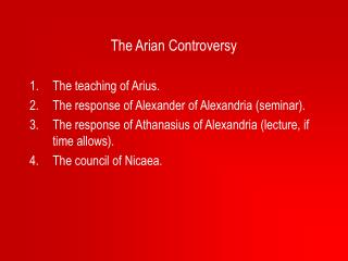 The Arian Controversy