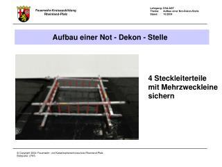 4 Steckleiterteile mit Mehrzweckleine  sichern