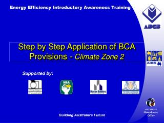 Step by Step Application of BCA Provisions - Climate Zone 2