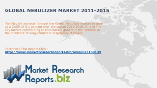 Global Nebulizer Market 2011-2015:MarketResearchReports.biz