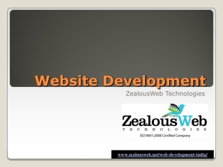 Web Development Services at ZealousWeb Technologies