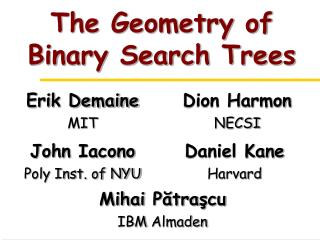 The Geometry of Binary Search Trees
