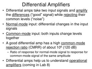 Differential Amplifiers