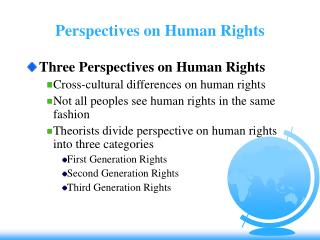 Perspectives on Human Rights