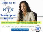 Medical Transcription Service Company