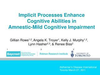 Alzheimer s Disease International Toronto March 27, 2011