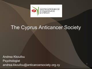 Andrea Kkoufou Psychologist andrea.kkoufouanticancersociety.cy