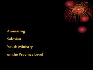 Animating  Salesian  Youth Ministry  on the Province Level