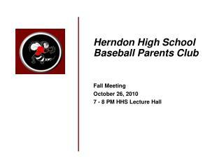 Herndon High School Baseball Parents Club