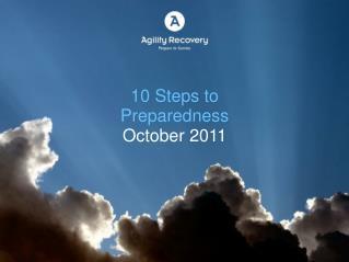 10 Steps to Preparedness  October 2011