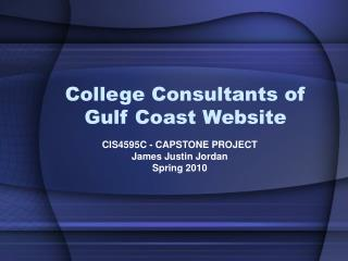 College Consultants of Gulf Coast Website