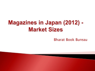 Magazines in Japan (2012) - Market Sizes